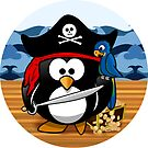 Pirate Penguin with Treasure Chest by Gravityx9