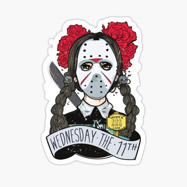 Wednesday the 11th - Friday the 13th Sticker