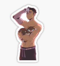 Asleep Shiro + Black Lion Kitty  Sticker
