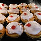 Iced Buns With Cherries On Top by Kathryn Jones