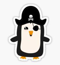 Penguin Pirate Captain R5jdj Sticker