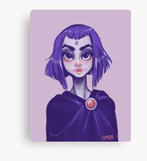 young teen titan: raven Canvas Print