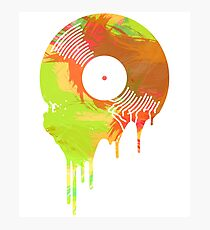 Graffiti Melting Vinyl Record Photographic Print