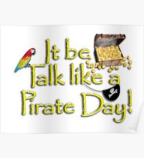 Pirate Talk Text - IT Be Talk Like a Pirate Day! Poster