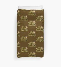 Pirate Talk Text - IT Be Talk Like a Pirate Day! Duvet Cover