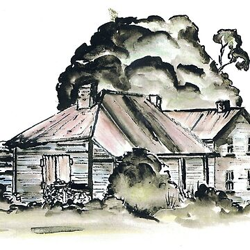 Country Homestead  by artbyjanelucas
