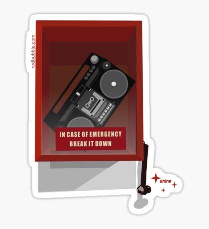 Emergency Break Sticker