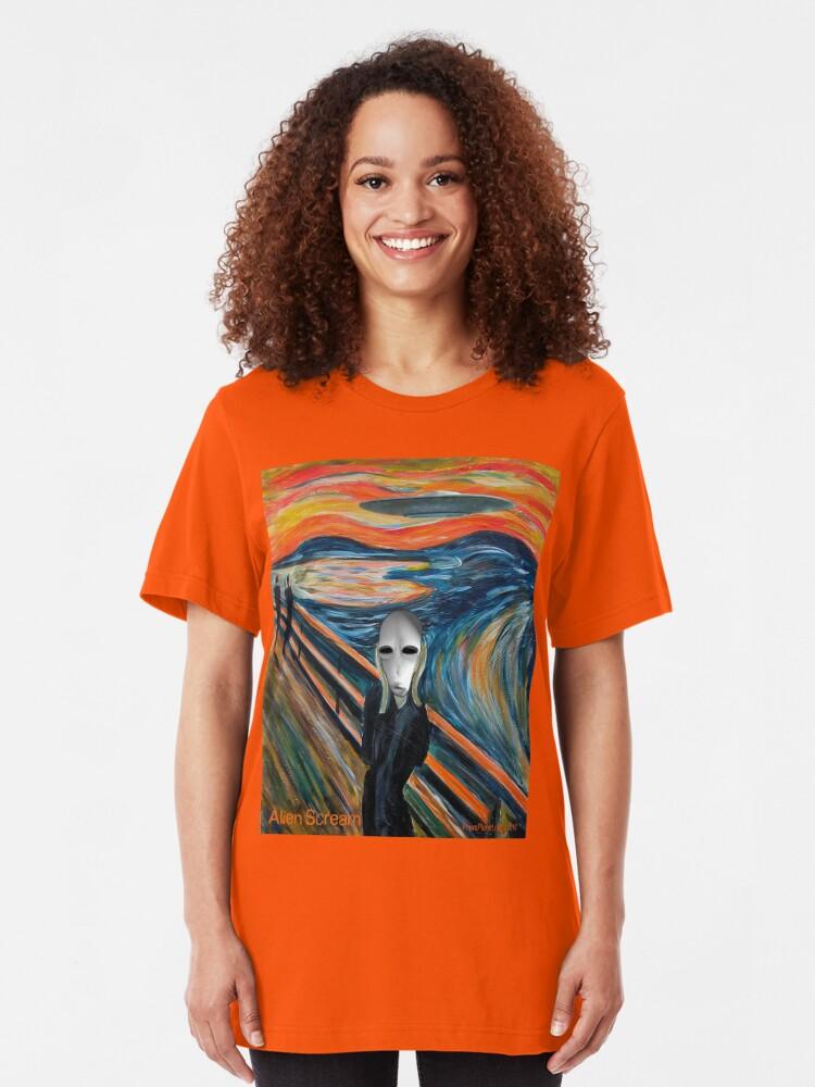 Alternate view of Alien Scream Slim Fit T-Shirt