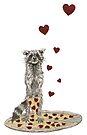 Trash Panda Hearts Pizza by heARTcart