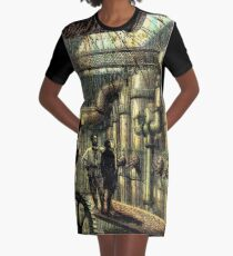 Nautilus Engine Room - by Landron Artifacts Graphic T-Shirt Dress