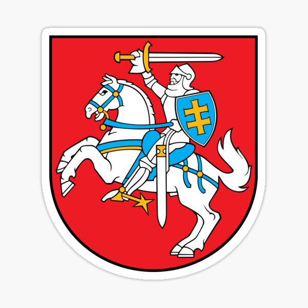 Lithuania coat of arms Sticker