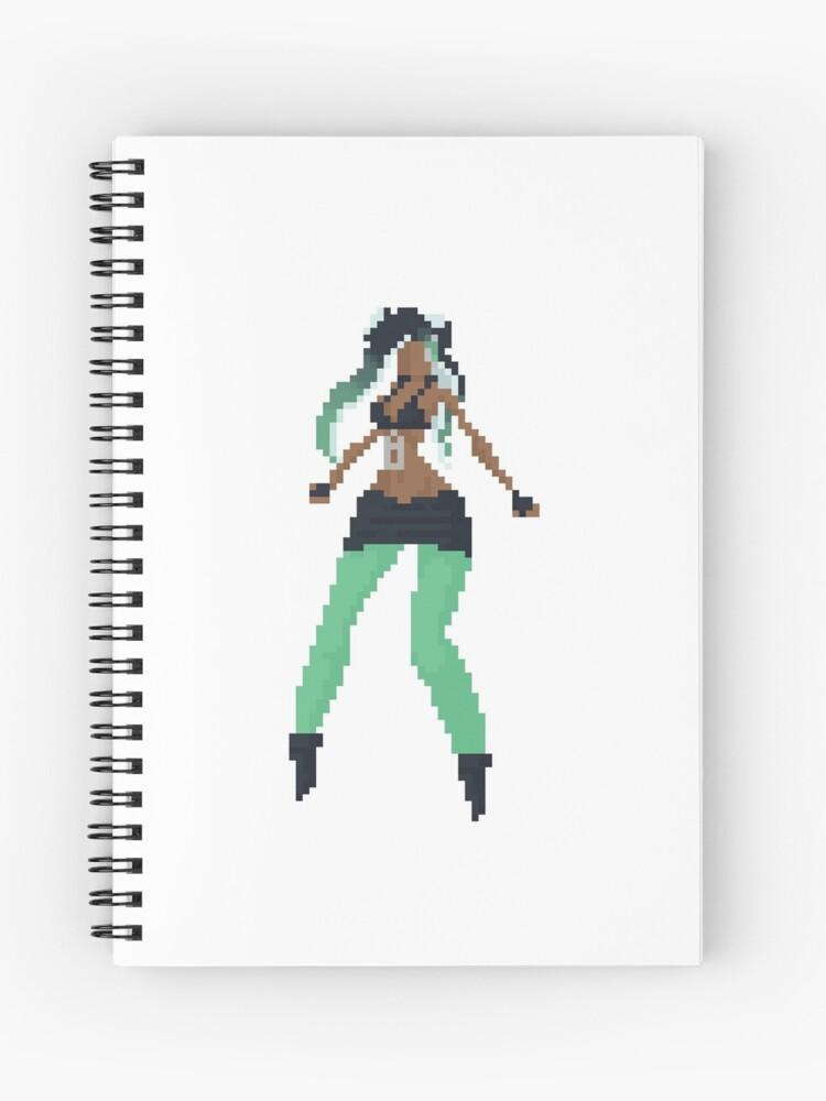 Marina Splatoon 2 Pixel Art Busty Spiral Notebook