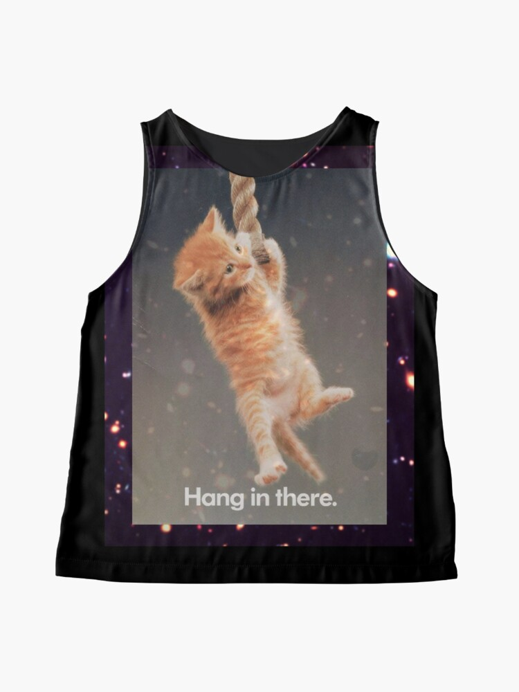Alternative Ansicht von Hang In There, Space Kitty Ärmelloses Top