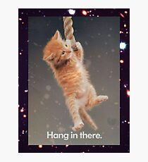 Hang In There, Space Kitty Photographic Print