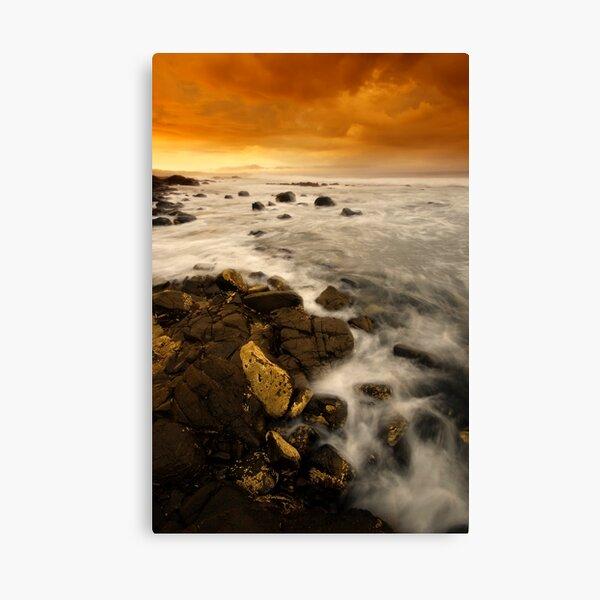 Golden Erosion Canvas Print