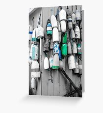 Nautical Color Buoys Greeting Card