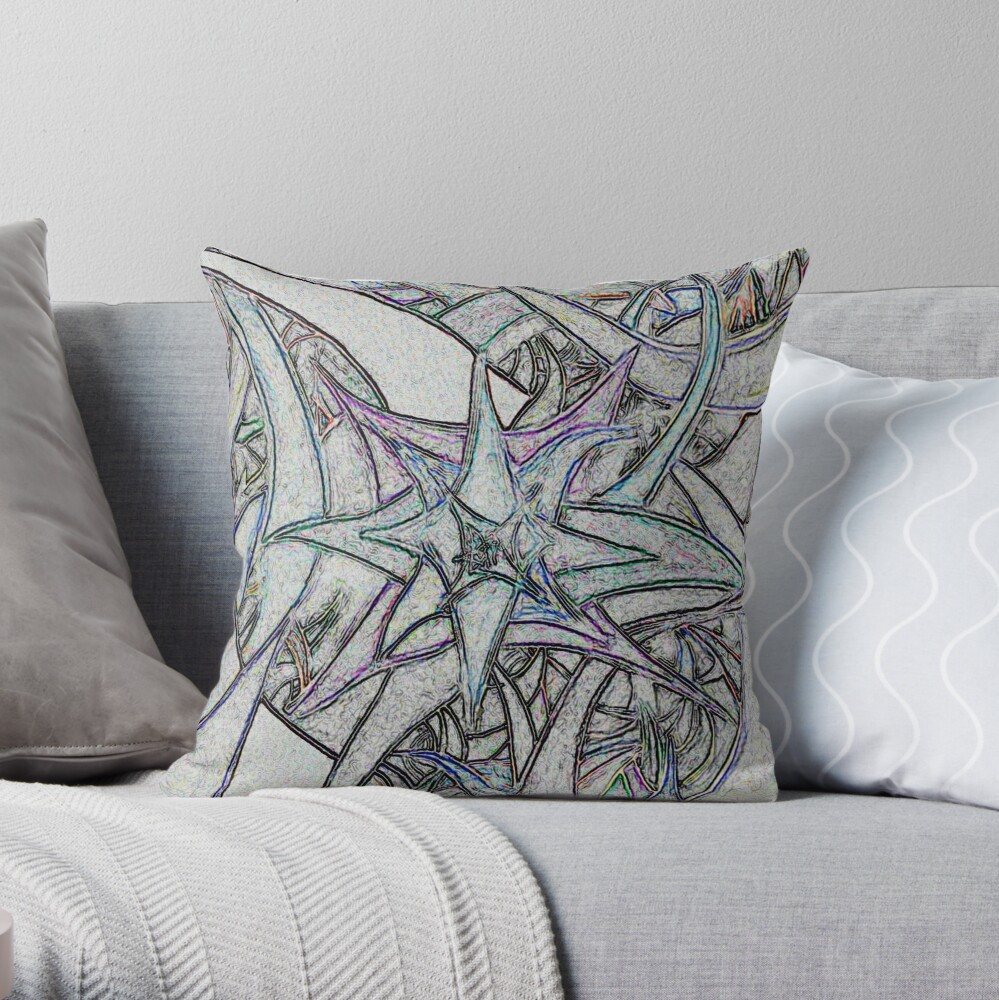 Unknown Internal Vision [Abstract #57] GREY Throw Pillow