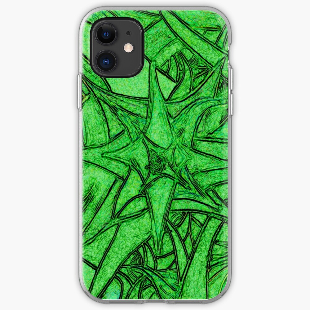 Unknown Internal Vision [Abstract #53] GREEN iPhone Soft Case