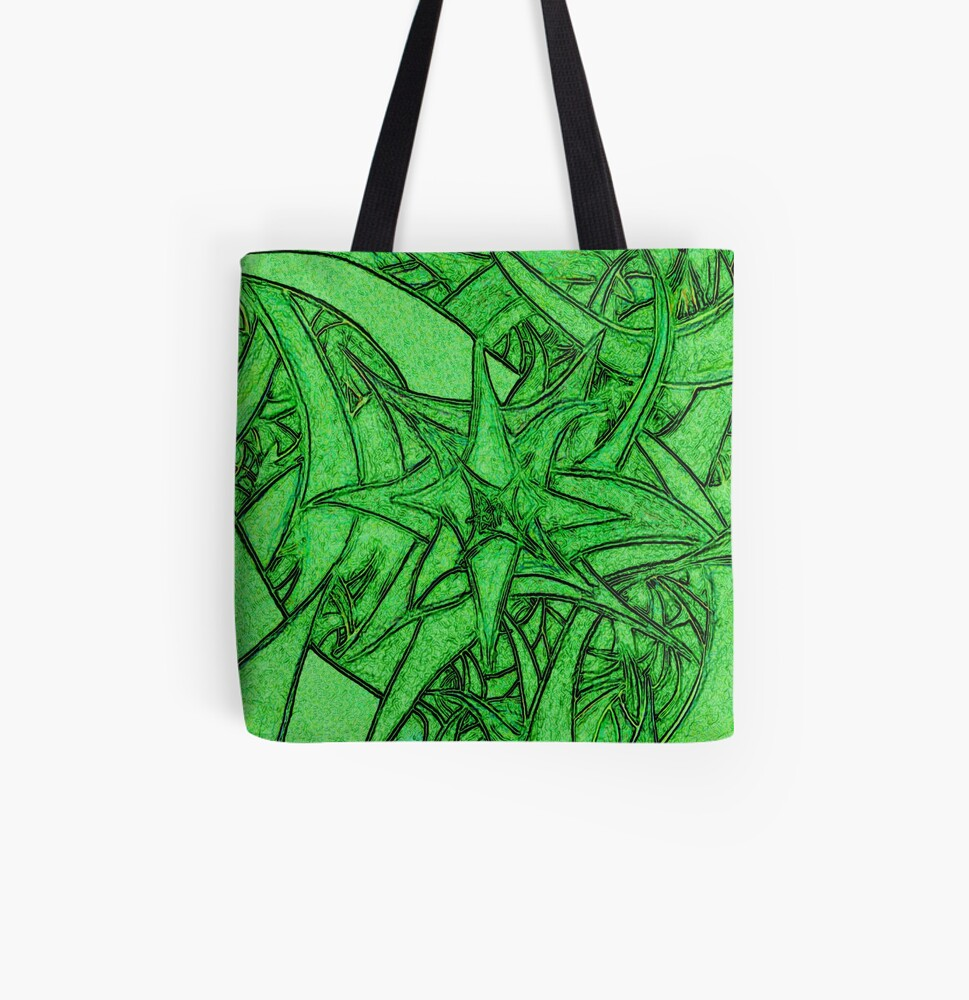 Unknown Internal Vision [Abstract #53] GREEN All Over Print Tote Bag