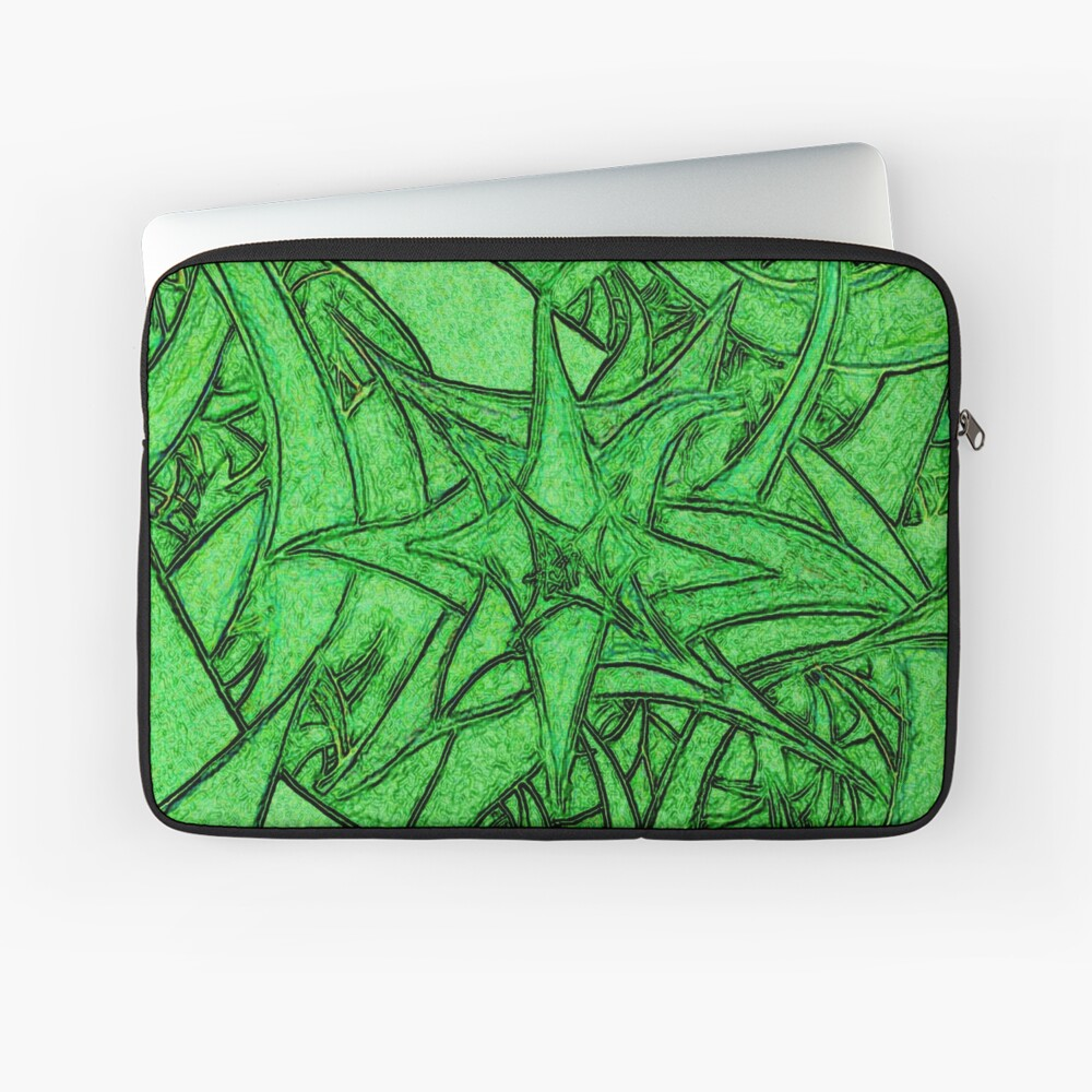 Unknown Internal Vision [Abstract #53] GREEN Laptop Sleeve