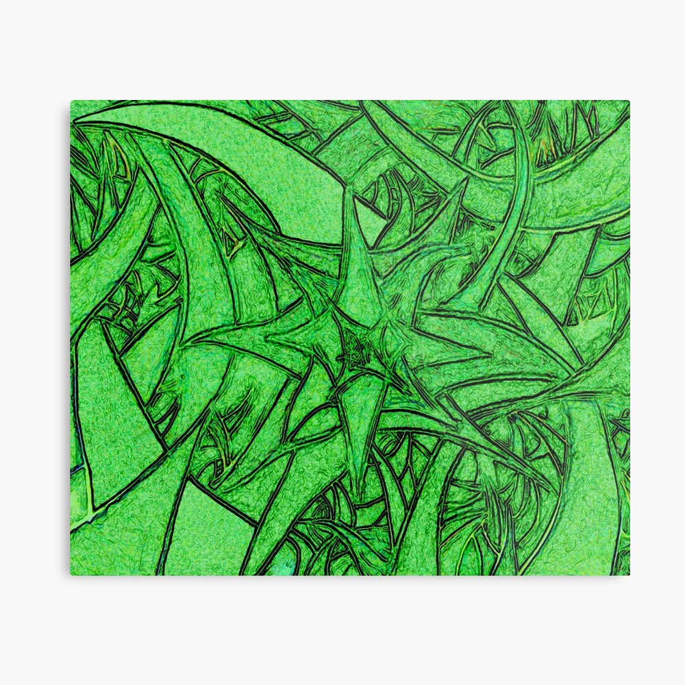 Unknown Internal Vision [Abstract #53] GREEN Metal Print