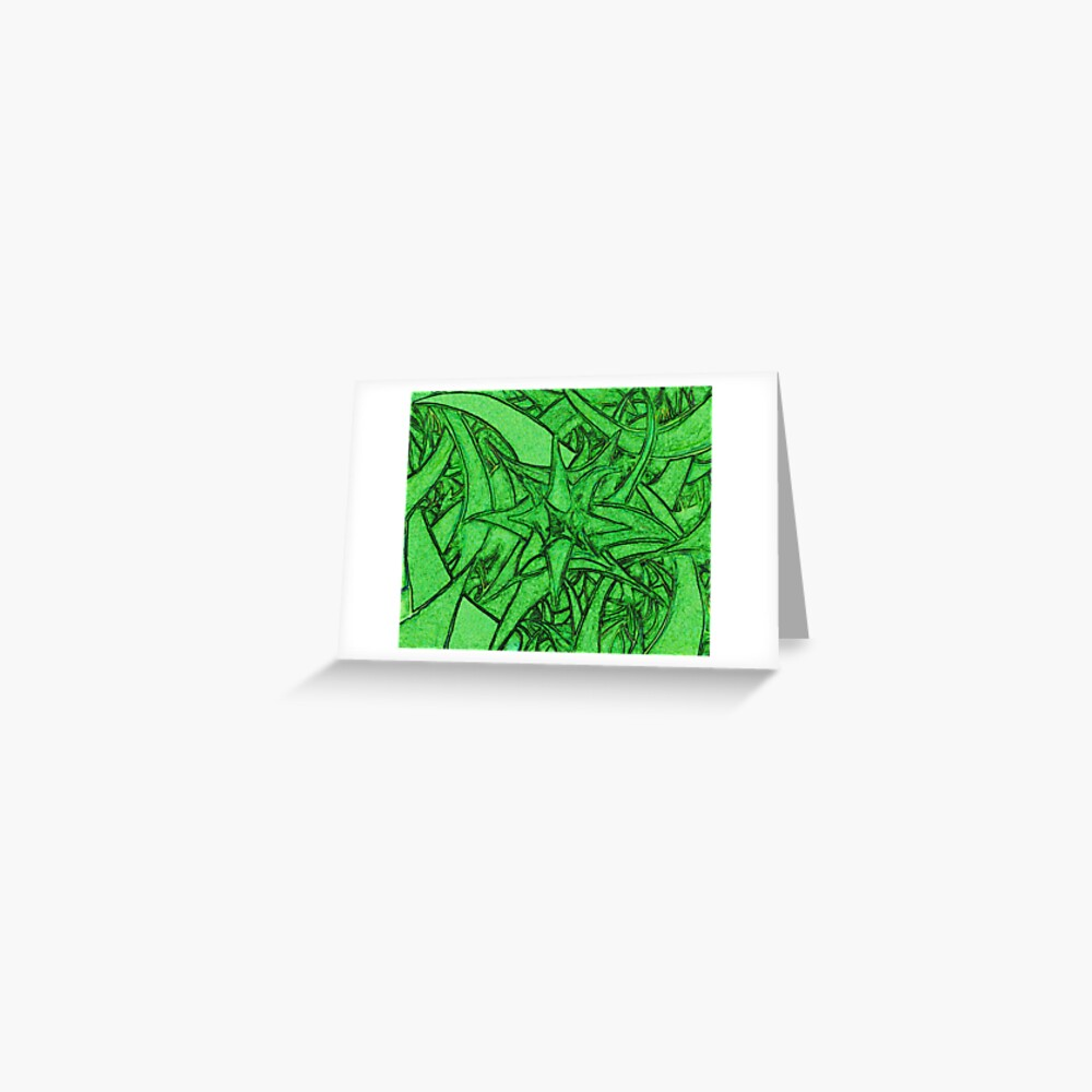Unknown Internal Vision [Abstract #53] GREEN Greeting Card