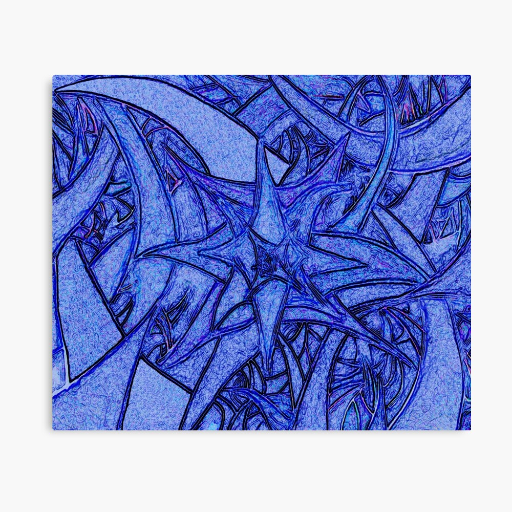 Unknown Internal Vision [Abstract #52] BLUE Canvas Print