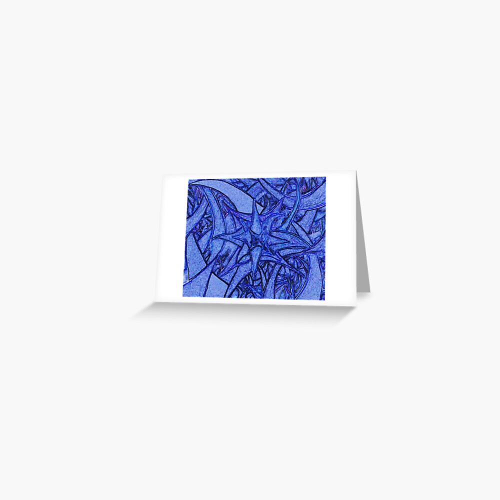 Unknown Internal Vision [Abstract #52] BLUE Greeting Card