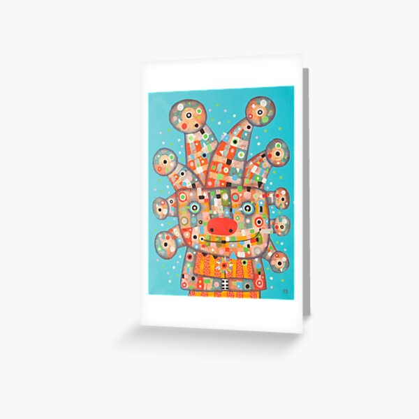 Clown with Flower Greeting Card