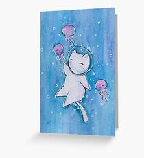 Swimming with the Jellies Greeting Card