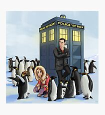 Doctor Daddy Penguin Photographic Print