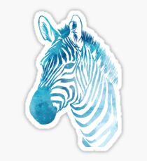 Watercolour Zebra Sticker