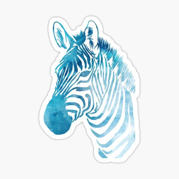 Watercolor Zebra Sticker