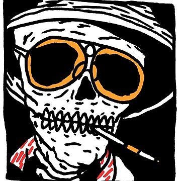 Fear and Loathing skull by goatgraff
