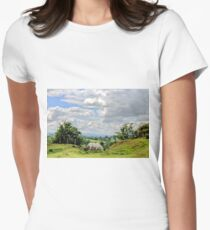 English Country Landscape 6 Women's Fitted T-Shirt