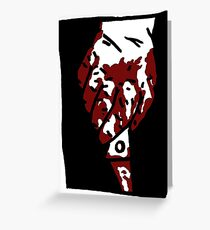 Bloody Knife Greeting Card