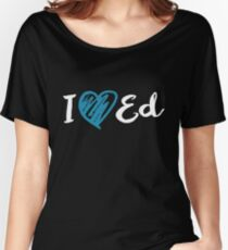 I Heart Ed Design (Black/Inverted) Women's Relaxed Fit T-Shirt