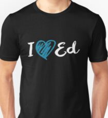 I Heart Ed Design (Black/Inverted) Unisex T-Shirt