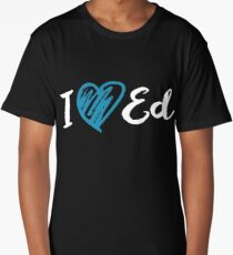 I Heart Ed Design (Black/Inverted) Long T-Shirt