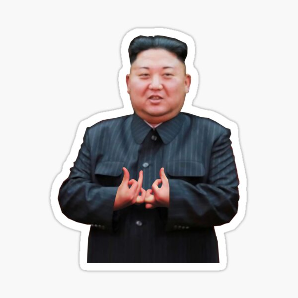 Kim Jong Un Stickers Redbubble