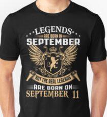 Legends Are Born On September 11 T-Shirt