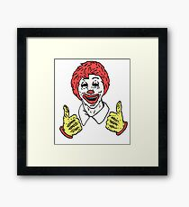 Decaying Ronald Framed Print