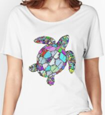 Psychedelic Sea Turtle Women's Relaxed Fit T-Shirt