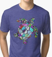 Psychedelic Sea Turtle Tri-blend T-Shirt