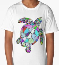 Psychedelic Sea Turtle Long T-Shirt