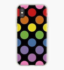 Rainbow Polka Dots iPhone Case