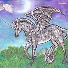 Unicorn Zebra Dragon by Stephanie Small