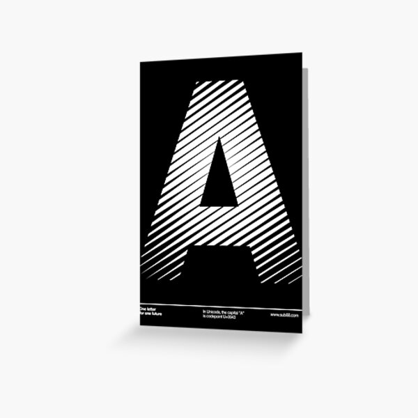 The letter A Greeting Card