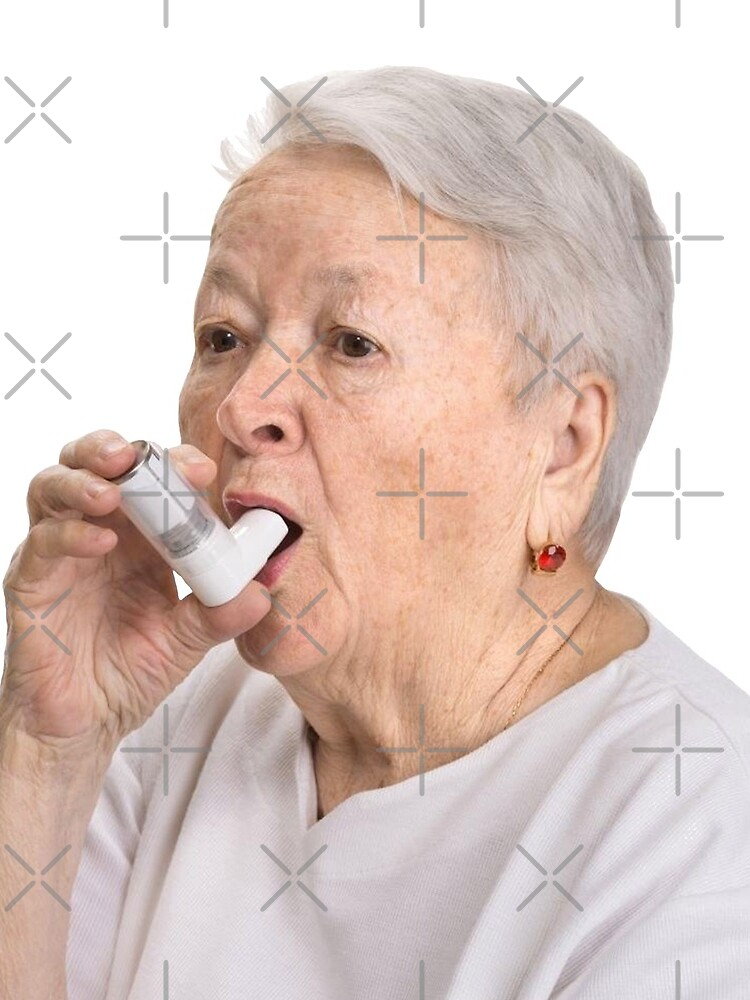 Old Lady with Inhaler by sophiapetrillo