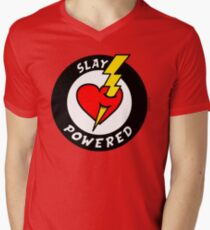 """State Of Slay """"Slay Powered"""" - To Benefit Battered Women Support Services (Red) T-Shirt"""
